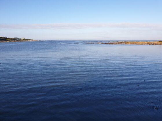 calm deep blue sea