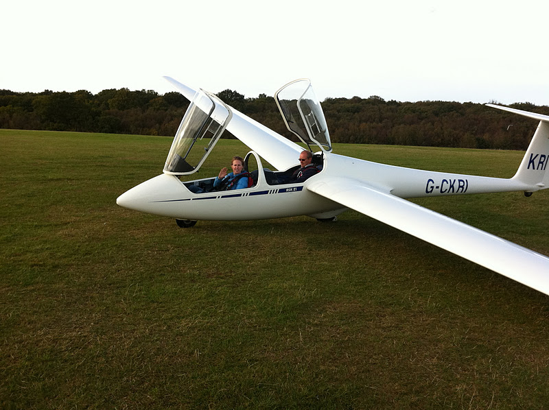 me when I went gliding in the UK