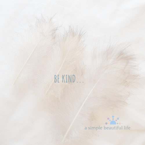soft feathers to remind us to be kind and decent and cool