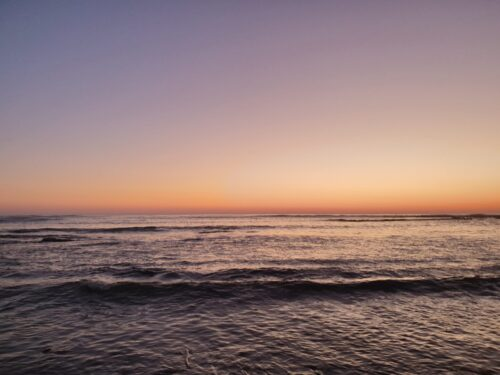 calm dusk waves - time to pause and breathe