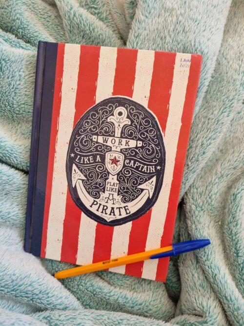red pirate notebook